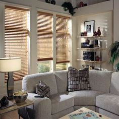 """2"""" Wooden Window Blinds, Custom Wooden Blinds, Real Wooden Blinds from Blindster.com 