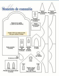 capillas de comunion moldes - Buscar con Google