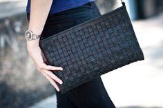 Wowen leather bag  shoulder bags crossbody bag woven by Stasukan