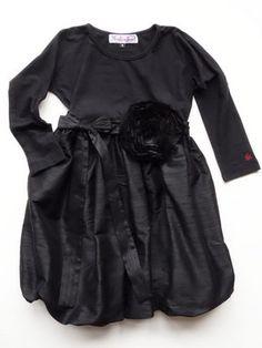 KidcutetureToddler & Girls Black Silk Party Dress Sizes 2-8  llbd shop Exclusive