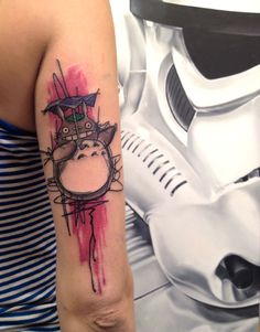 #totoro #tattoo artist: Mirco Is Dead https://www.facebook.com/mirco.isdead?fref=ts