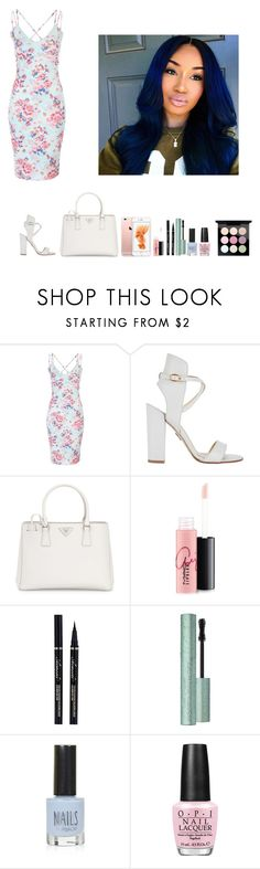 """-Glo Queen"" by krissyk-15 on Polyvore featuring Paul Andrew, Prada, MAC Cosmetics, Topshop and OPI"