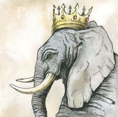 "I think it would be cool to do a series of ""animal royalty"" prints in the bedroom (or nursery)."