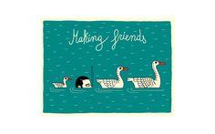 Making Friends postcards  by Luci Gutiérrez