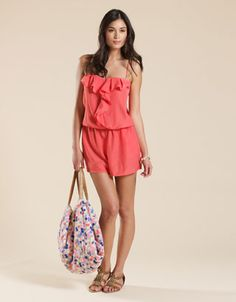 Coral playsuit-love this!