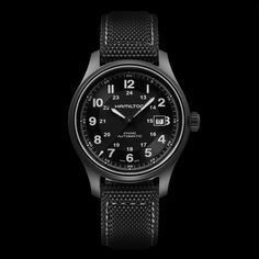 92376cbe493b53 Hamilton Khaki Titanium H70575733. The Khaki Field line provides rugged  construction and elegant design.