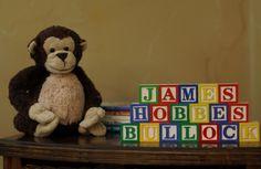 18 BLOCKS  Baby's Name in Wooden Blocks  Nursery by abcblockology, $35.82