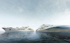 Zaha Hadid designs superyacht for Blohm + Voss. A floating incarnation of the architect's fluid forms and dynamic curves