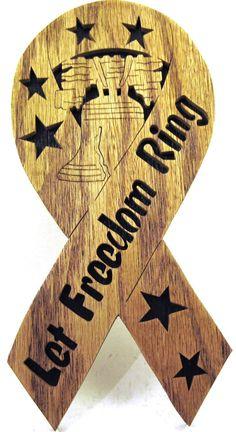 Let Freedom Ring ribbon scroll saw cut2p by ScrollSawTreasures, $15.50
