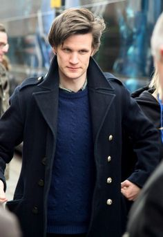 "I imagine him saying, ""Tut tut tut. I'm Matt Smith. I'm a busy busy guy."" And, then he marches with his hands moving up and down. <3"