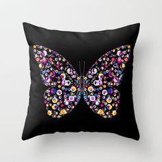 Sold: #Butterfly Throw Pillow by Ornaart - $20.00