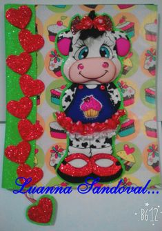 LIBRETA DECORADA Angela, Christmas Ornaments, Holiday Decor, Desserts, Decorated Binders, Cartonnage, Hens, Jelly Beans, Blue Prints