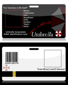 Blank Umbrella Id By Kasukitty On Deviantart  Cosplay Id Card