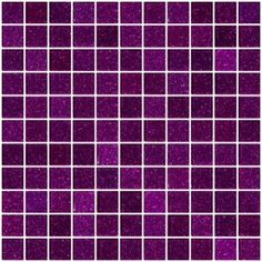 1 Inch Purple Violet Glitter Glass Tile