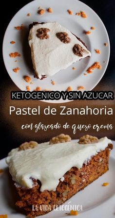 This Ketogenic Carrot Cake has a special place in our family recipe collection. You can make a moist, low-carb, ketogenic carrot cake without fancy ingredients or equipment. Cream Cheeses, Keto Desserts Cream Cheese, Cake With Cream Cheese, Low Carb Desserts, Cream Cheese Frosting, Low Carb Recipes, Dessert Recipes, Cake Recipes, Healthy Desserts