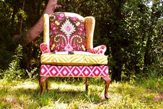Another amazing piece of furniture. From happychair's Etsy shop