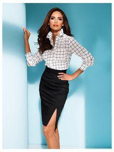 Chemisier + Jupe crayon taille haute, un look de femme fatale au bureau  Mode Femme 1df6c79faa1