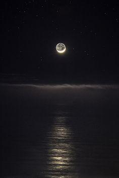 Winter Crescent Moon