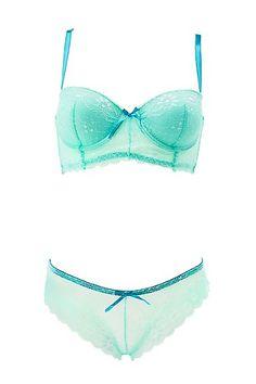 Long Line Lace Bra & Panty Set: Charlotte Russe #intimates #lingerie #lace