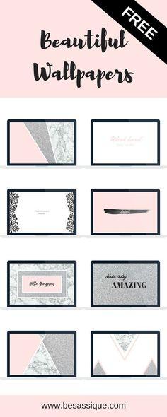 Freebie: 8 Gratis Wallpaper für deinen Laptop, dein Tablet und dein Smartphone. Rosa, Glitzer, Marmor, Design, Modern Wallpaper, iPhone Wallpaper,