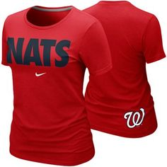 Nike Washington Nationals Ladies Nats Local Premium T-Shirt - Red for H's games