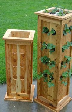 You can easily make a long-standing Pallet Planter stand. Make some holes to put the plants properly so you can water them. You can cast a proper base with little effort. This vertical planter can be built as a useful shade to cover an unsightly water tank using the kitchen window.