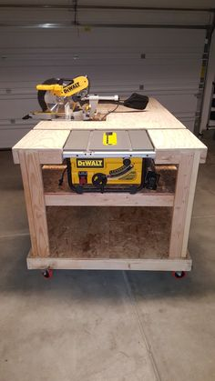 Mobile Workbench Table Saw And Miter Saw Is Moveable By Eric