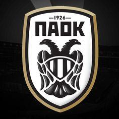 PAOK Thessaloniki of Greece crest. Football Team Logos, Soccer Logo, Sports Team Logos, World Football, Thessaloniki, Fifa, College Soccer, Jersey Atletico Madrid, Basketball