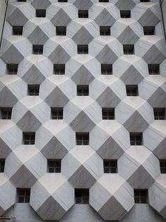 Concrete Pyramid Facade