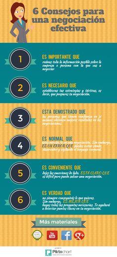 Consejos Negociación efectiva    @Piktochart Infographic