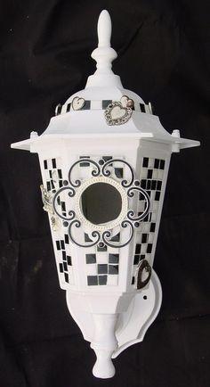 outdoor lamp made into a birdhouse