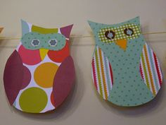 Needle and Spatula: Owl Themed  Decorations with Scrapbook Paper