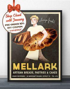 Hunger Games Inspired  Peeta Mellark Bakery by WindowShopGal