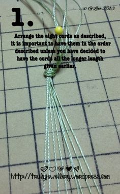 All at Sea Micro Macrame Bracelet tutorial picture 1