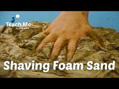 Teach Me: Shaving Foam Sand - YouTube