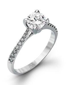 Gorgeous 14k White Gold Ring with Dazzling White Diamonds   Zeghani ZR752   http://trib.al/3Xc3A2W