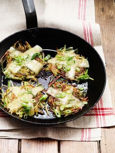 Rösti with leeks & Thaler Cheese Low Fat Fryer, Surf And Turf, Meatless Monday, What To Cook, Clean Eating Recipes, Food Inspiration, Side Dishes, Paleo, Lunch