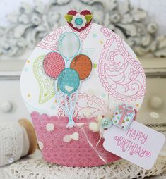 Happy Birthday Cupcake Card by Melissa Phillips for Papertrey Ink (January Happy Birthday Cupcakes, Birthday Bash, Birthday Cards, Cupcake Card, Dress Up Dolls, Card Tags, Cute Cards, Party Hats, How To Introduce Yourself