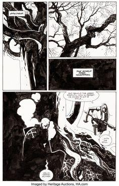 Comic Book Pages, Comic Page, Comic Books, Mike Mignola Art, Western Comics, Jack Kirby, Panel Art, Comic Artist, Comic Strips