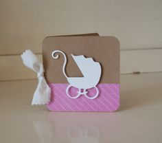 Baby Girl Pink Baby Shower Invitations Invites Thank You Notes Pram Baby Carriage Cards