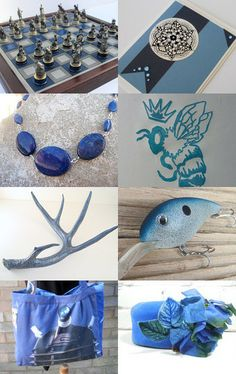Why So Blue Queen Bee? by Robin Harley on Etsy--Pinned with TreasuryPin.com