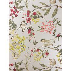 Buy Nina Campbell Penglai Wallpaper, Charcoal, NCW4182-02 Online at johnlewis.com