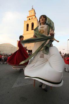 El Quirze i la Julita, patrons del municipi, a la Cercavila Popular de 2012 #SQV