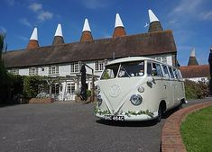 Wedding Cars Kent | Are these the coolest cars in Kent?! VW Camper Wedding Car Hire Wedding Car Hire, Coolest Cars, Vw T1, Vw Camper, Car Ins, Cool Stuff, Vehicles, Rolling Stock, Vehicle