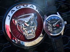 """Car & Watch Review: Jaguar XJ & Bremont Jaguar MkI - by Ariel Adams Take a peek at: aBlogtoWatch.com """"I had an interesting mental moment recently when cruising around in Jaguar's XJ - their flagship all-purpose sedan - while wearing the Bremont Jaguar MkI timepiece. The car has one of those all-digital screen instrument panels, while the timepiece's dial is of course all analog. Trends like that are common in high-end cars where electronics have been embraced. Alternatively..."""""""