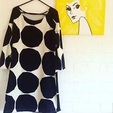 Marimekko Fabric Dress Tunic Black White Kivet Or Purple Orange kivet