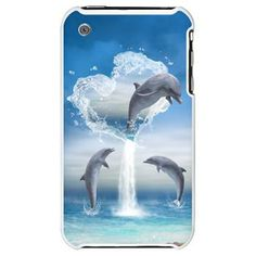The Heart Of The Dolphins iPhone 3G Hard Case A dolphin jumps out of the heart into the ocean. This dolphin is expected from two other dolphins. €20.50 thanks to the customer!