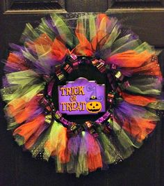 Trick or Treat Tulle Wreath by Welcome Home Wreath