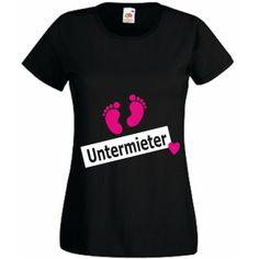 Fun- T-Shirt Untermieter Mädchen oder Junge von Style-Home Wandtattoo's & T-Shirt Druck auf DaWanda.com