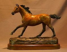 Sculpture - Freedom Galloping Thoroughbred Stallion Bronze Sculpture by Kim Corpany